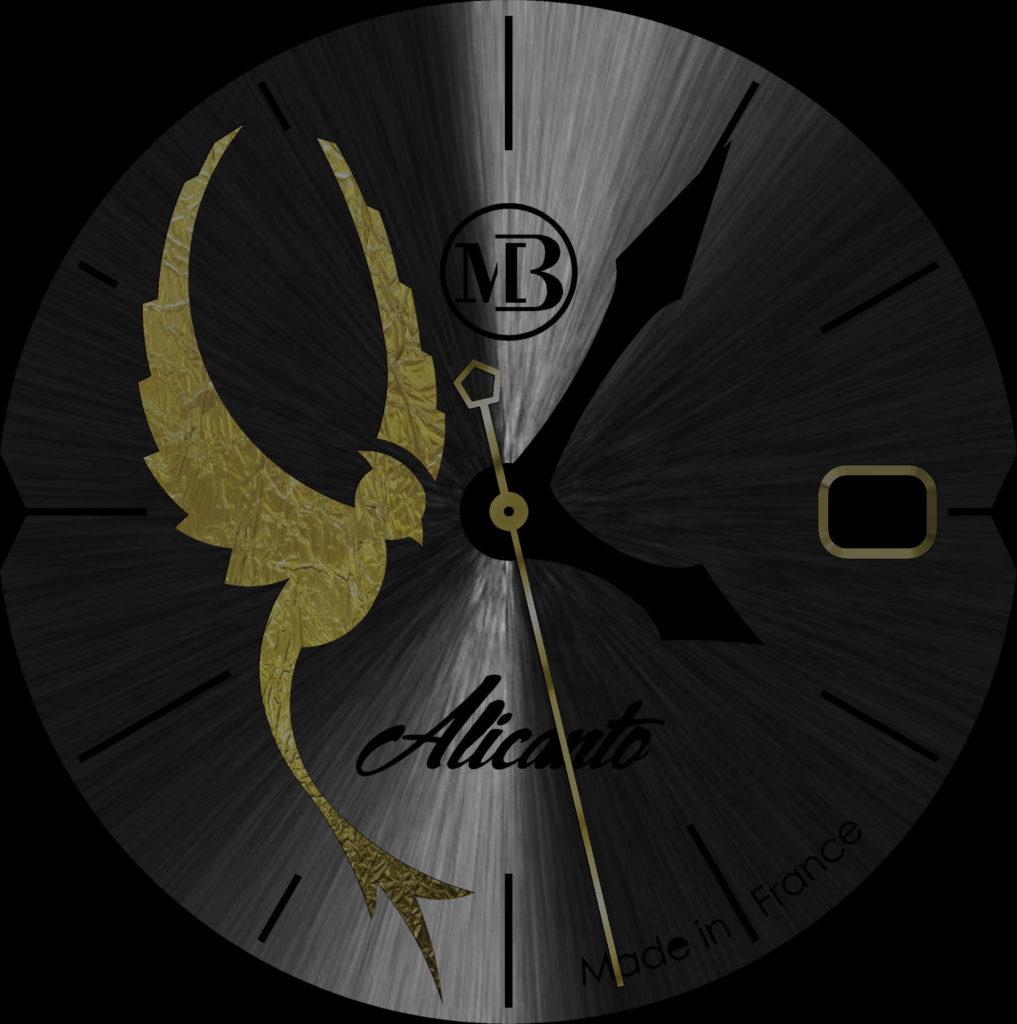 Logo Montre Alicanto Montre de luxe pour dame or et acier