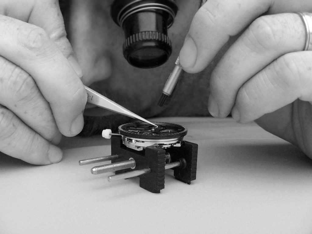 Assembling of a watch in France